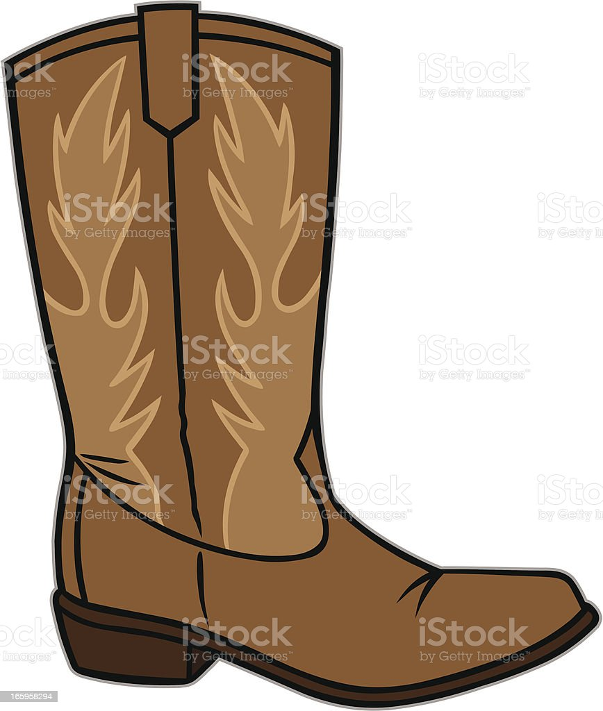 Cowboy Boot royalty-free stock vector art