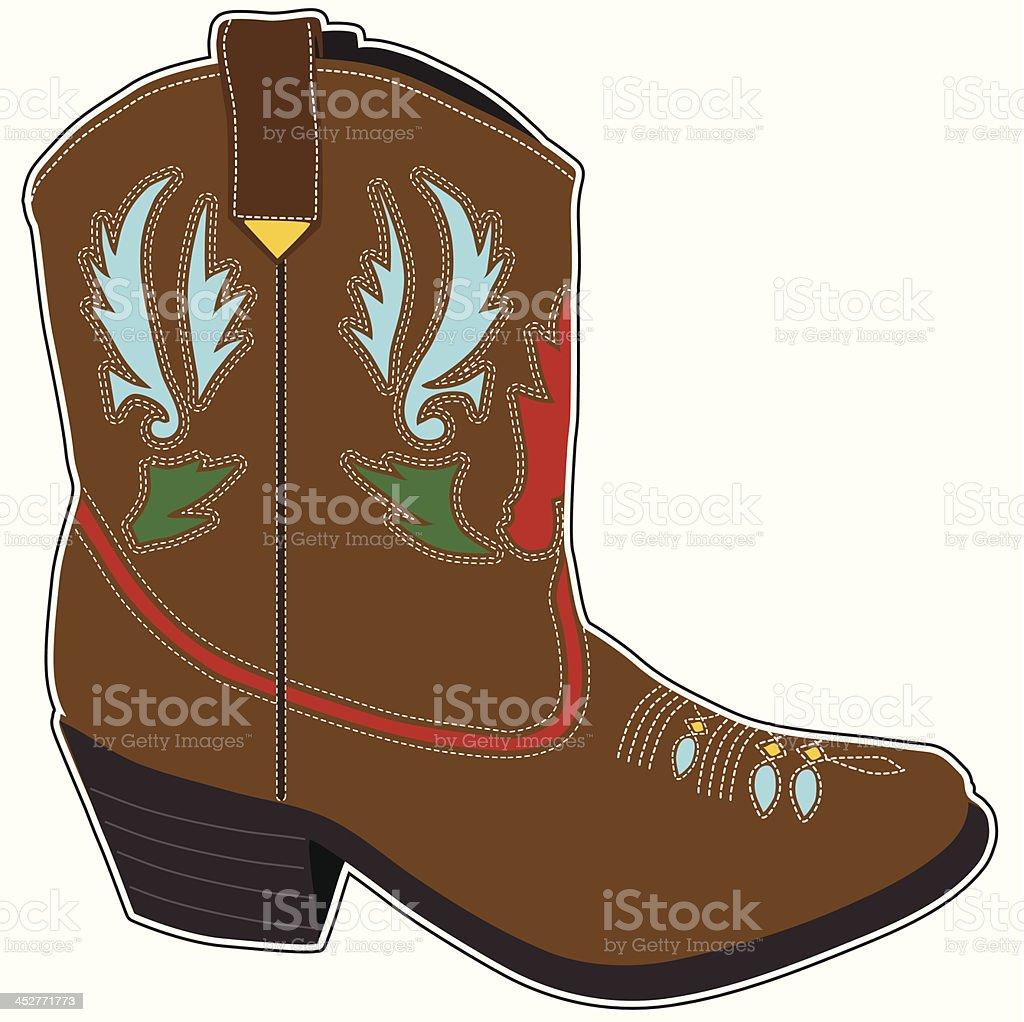 Cowboy Boots Short royalty-free stock vector art