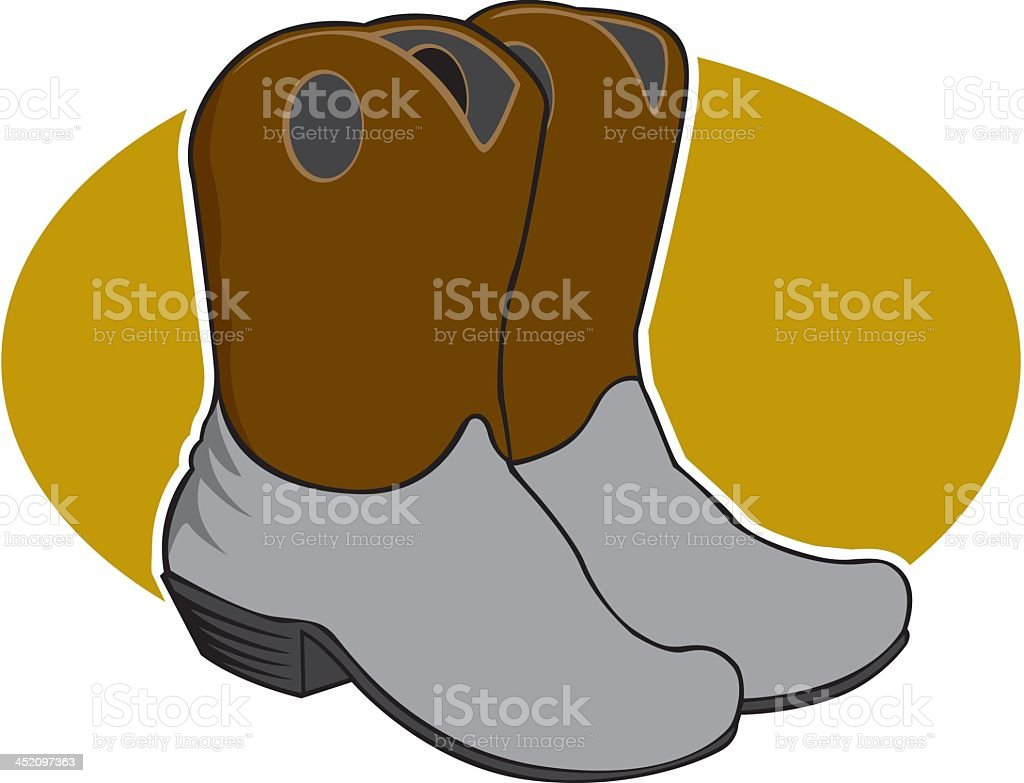 Cowboy Boots royalty-free stock vector art