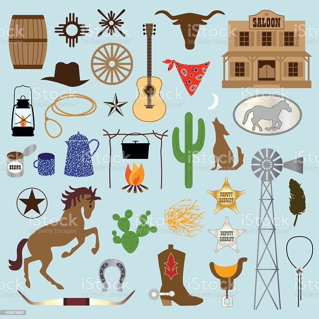 cowboy clipart vector art illustration