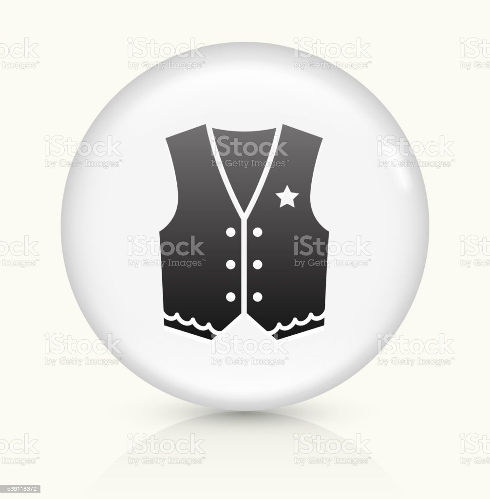 Cowboy Cloth icon on white round vector button vector art illustration