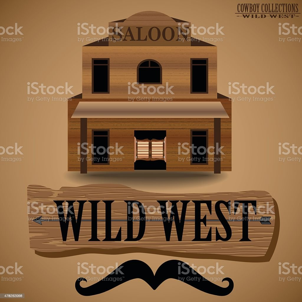 Cowboy Collections - The Saloon. vector art illustration