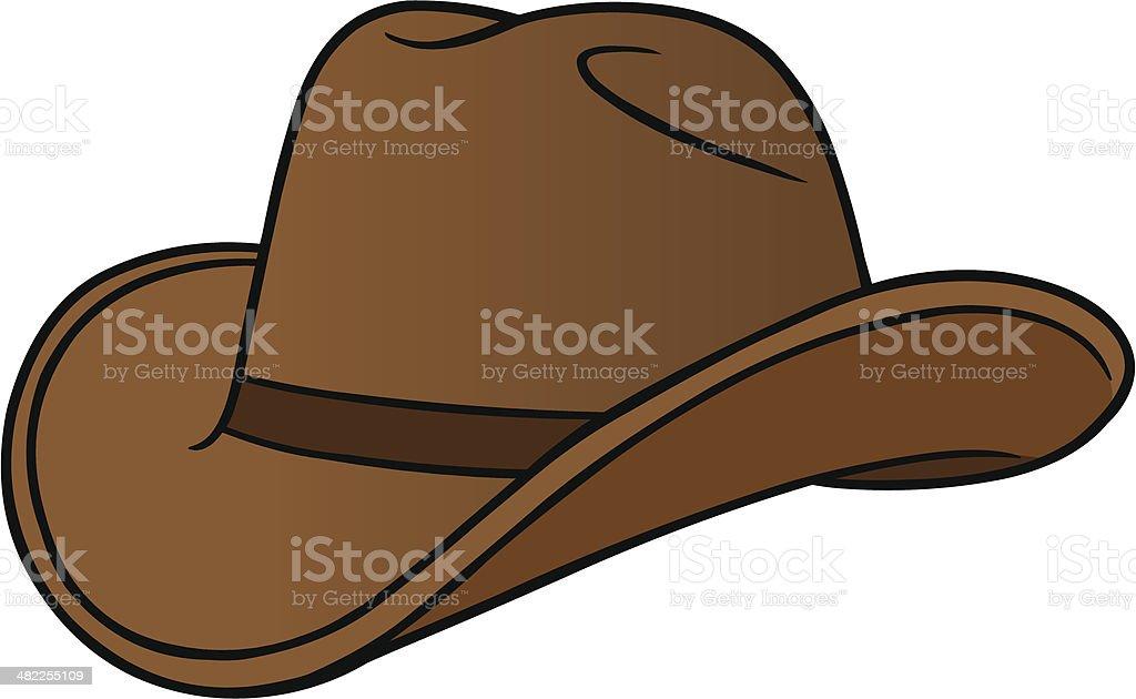 Cowboy Hat Cartoon royalty-free stock vector art