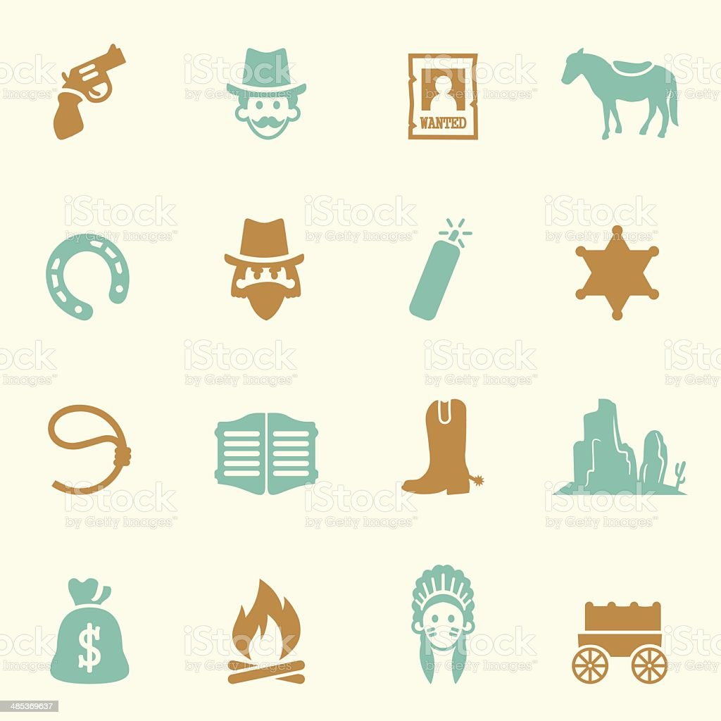 Cowboy Icons Color Series| EPS10 vector art illustration