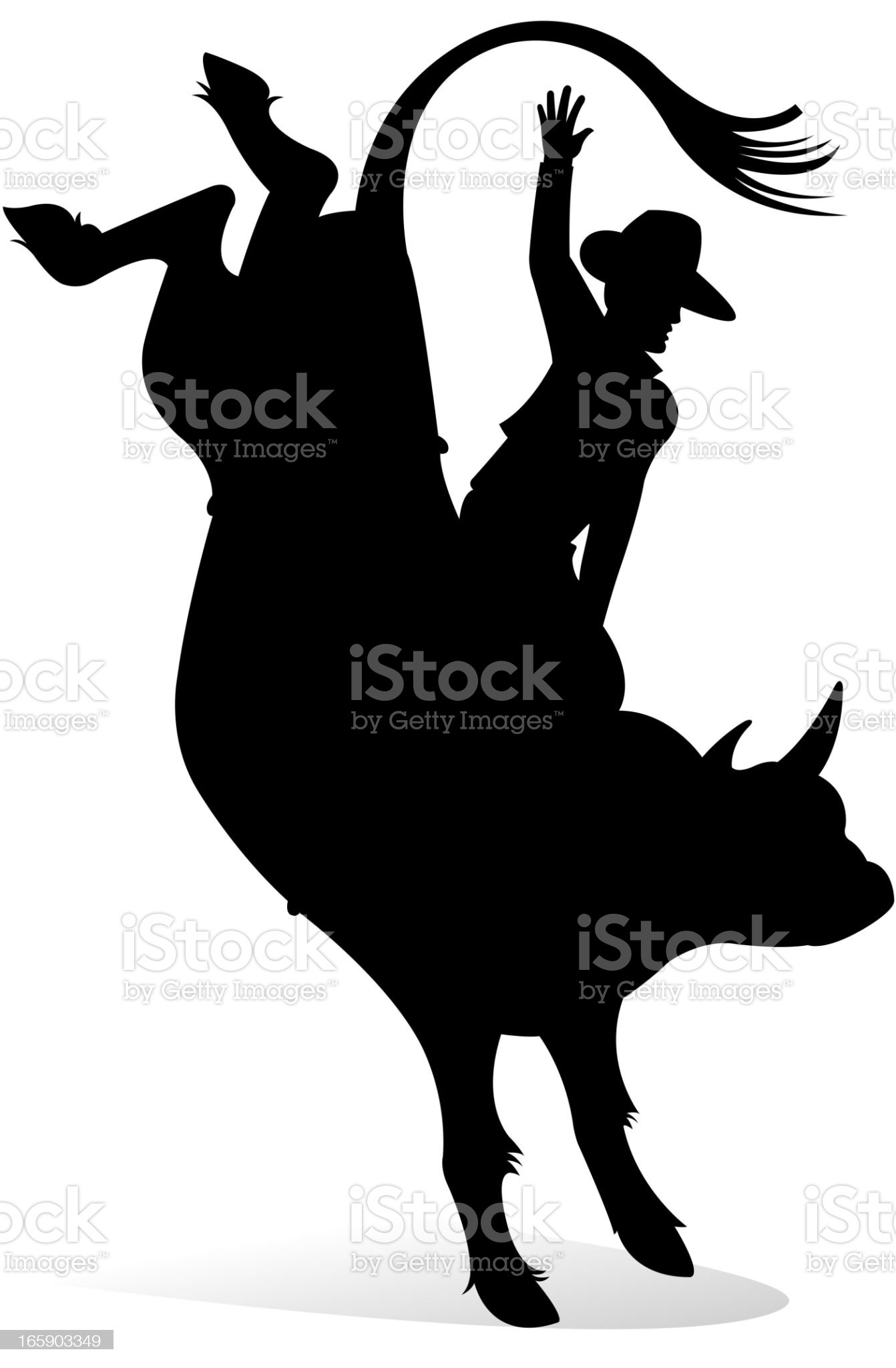 cowboy in rodeo area royalty-free stock vector art