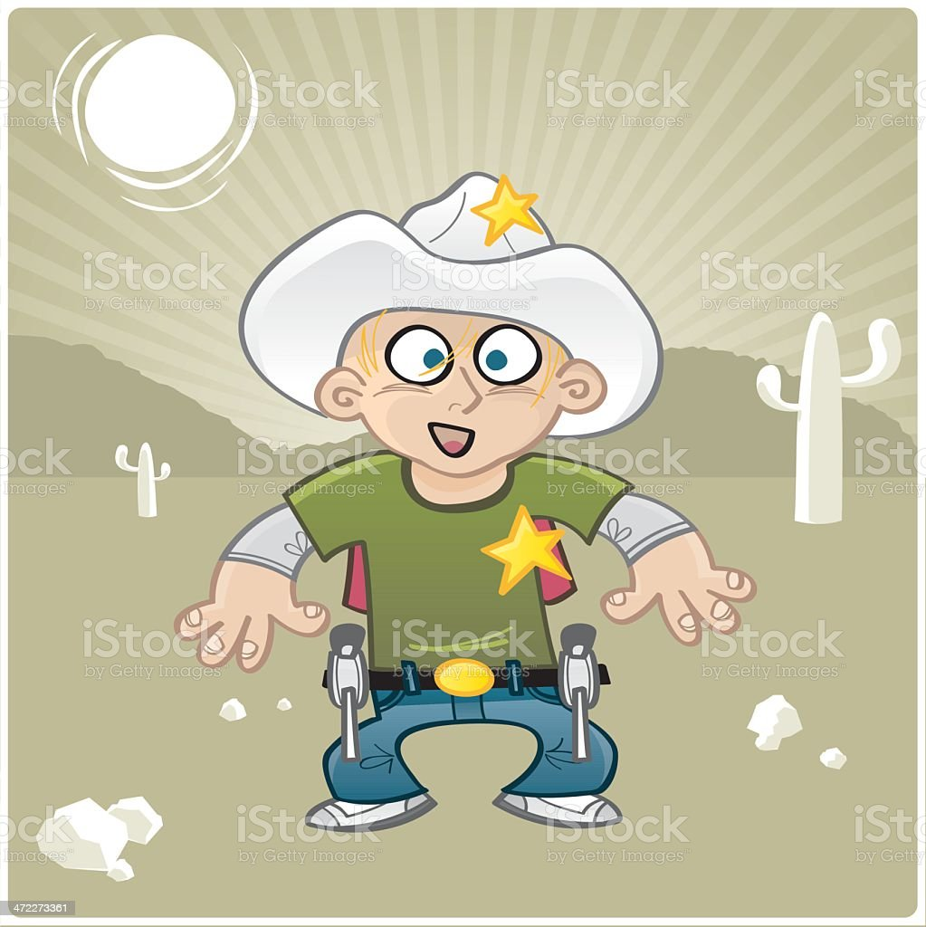 Cowboy Kid royalty-free stock vector art