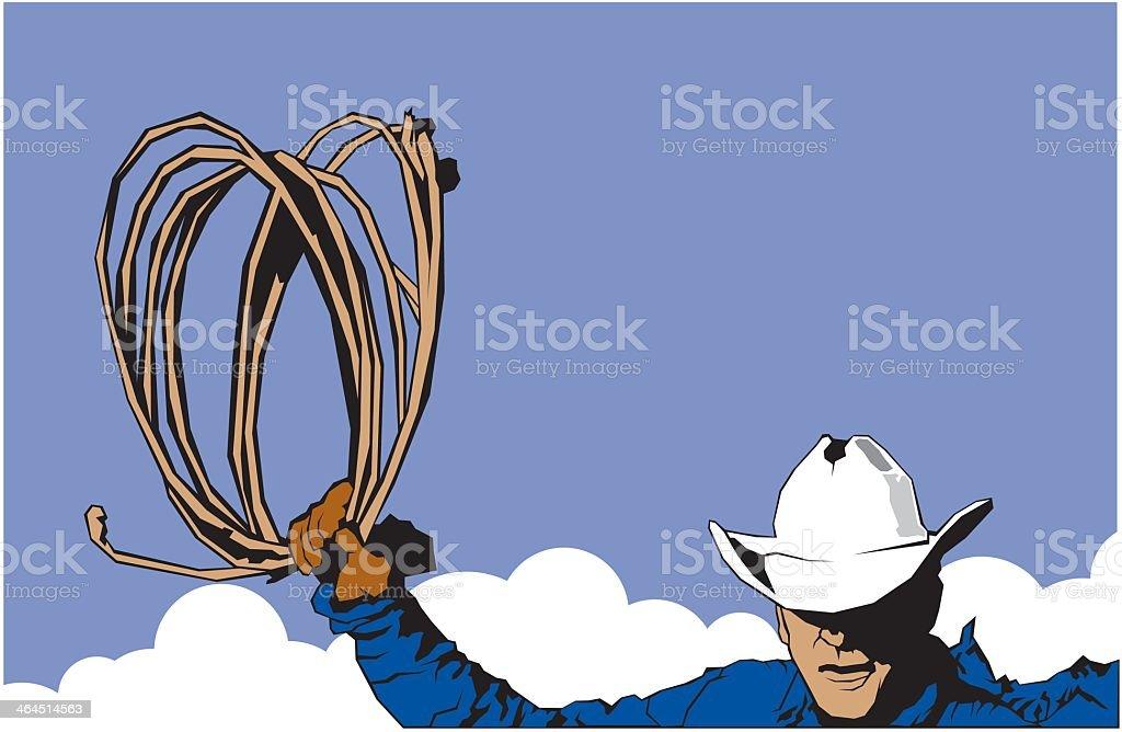 Cowboy Lasso royalty-free stock vector art