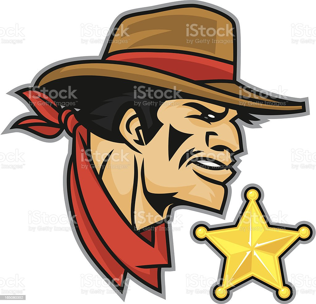 Cowboy Sherriff royalty-free stock vector art