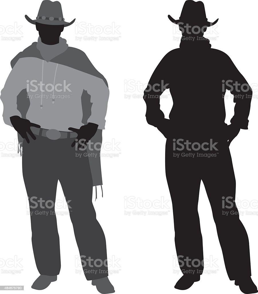 Cowboy Silhouette vector art illustration