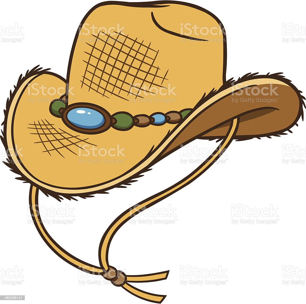 Cowboy Straw Hat royalty-free stock vector art