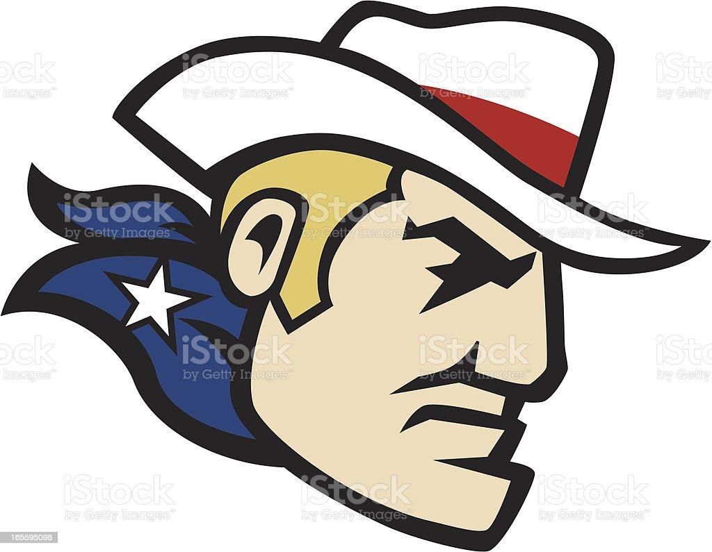 Cowboy Swoop Mascot royalty-free stock vector art