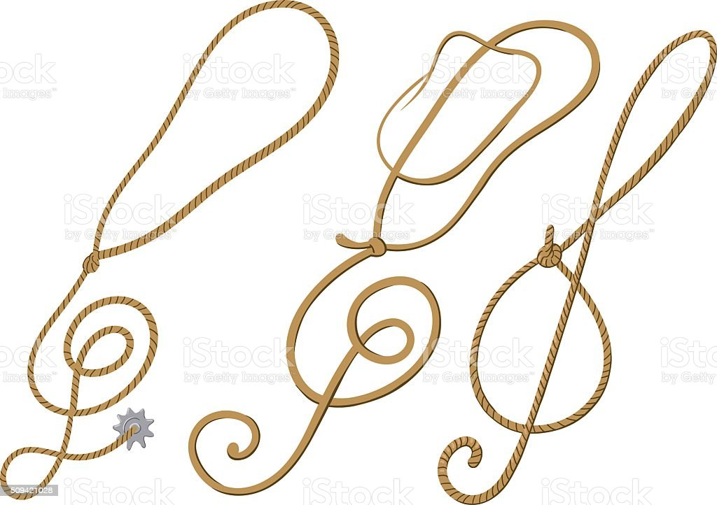 Cowboy treble clef vector art illustration