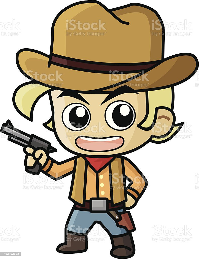 Cowboy Vector Cartoon vector art illustration