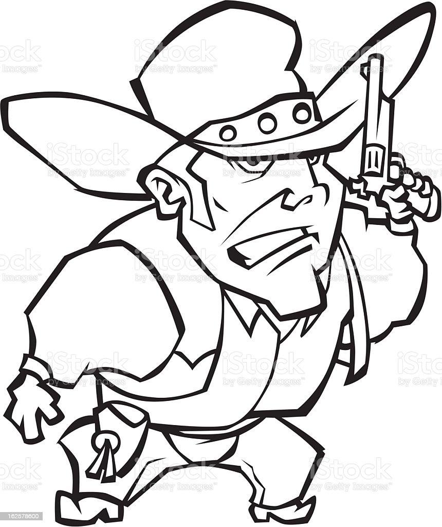 Cowboy royalty-free stock vector art