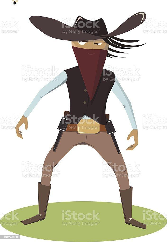 Cowboy versus fly royalty-free stock vector art