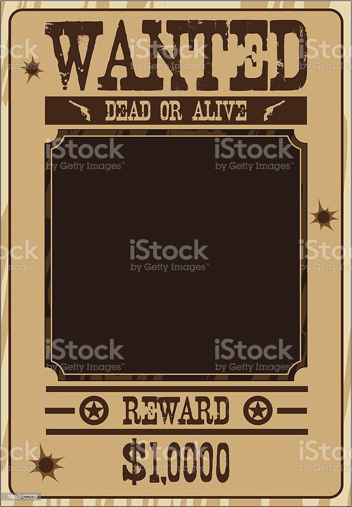 Cowboy Wanted Poster royalty-free stock vector art