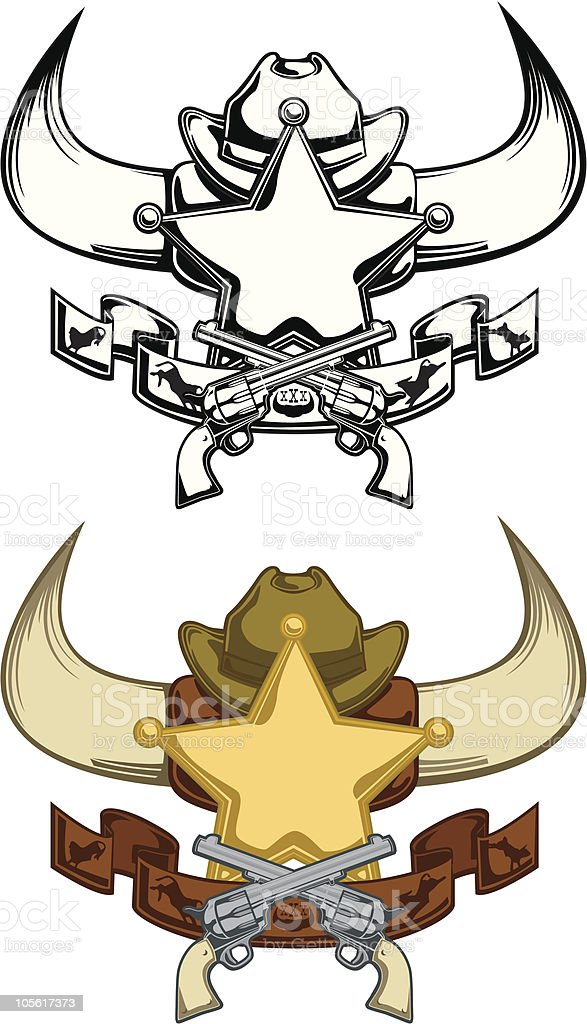 Cowboy Western Emblem royalty-free stock vector art