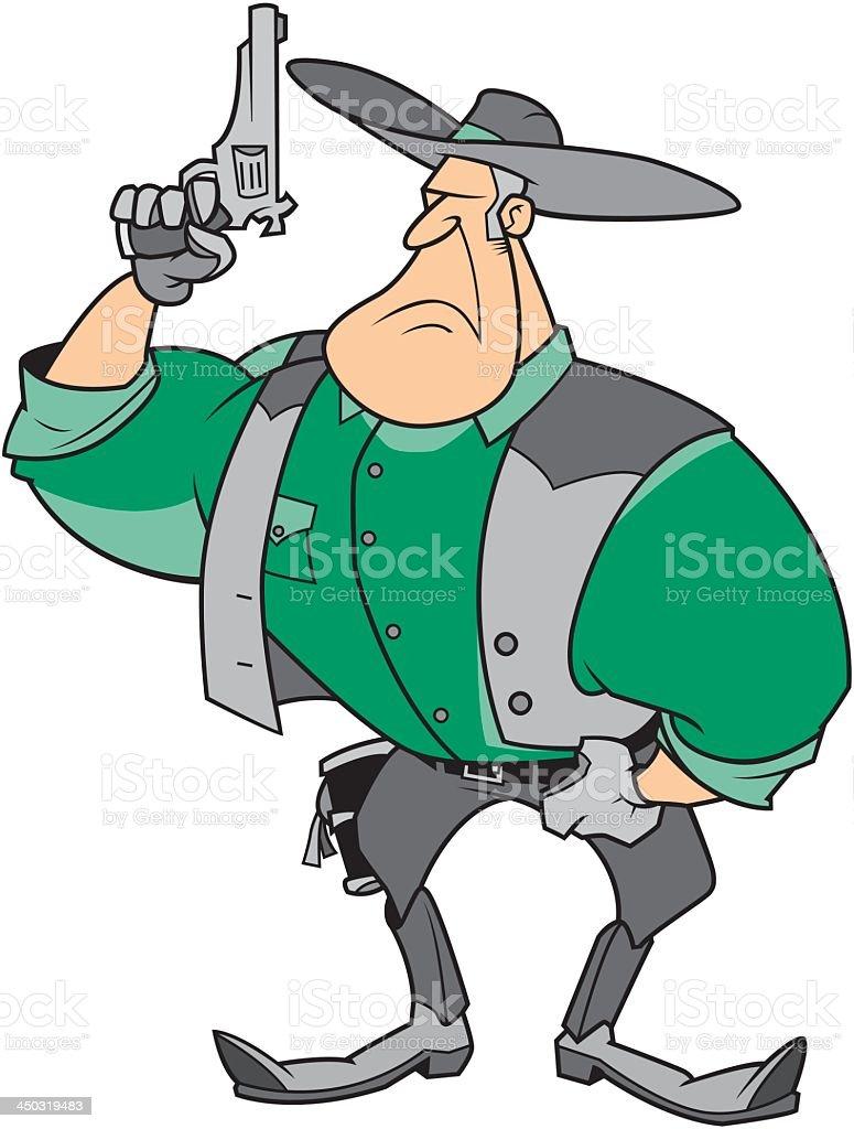 Cowboy With A Gun royalty-free stock vector art