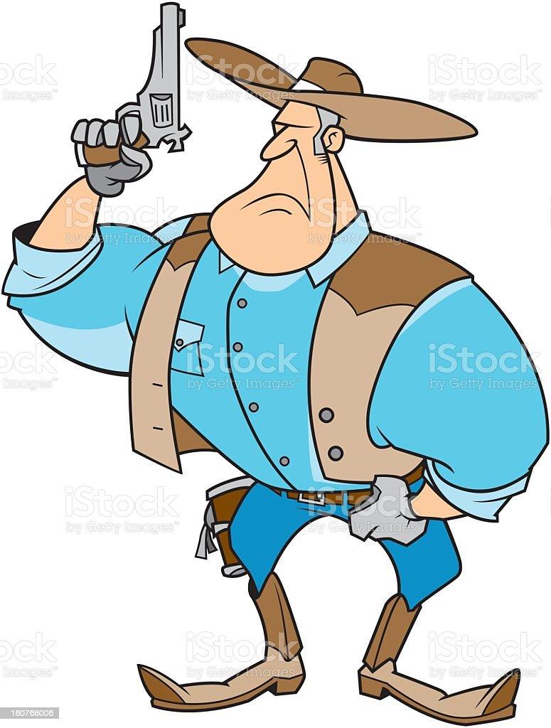 Cowboy with Gun royalty-free stock vector art