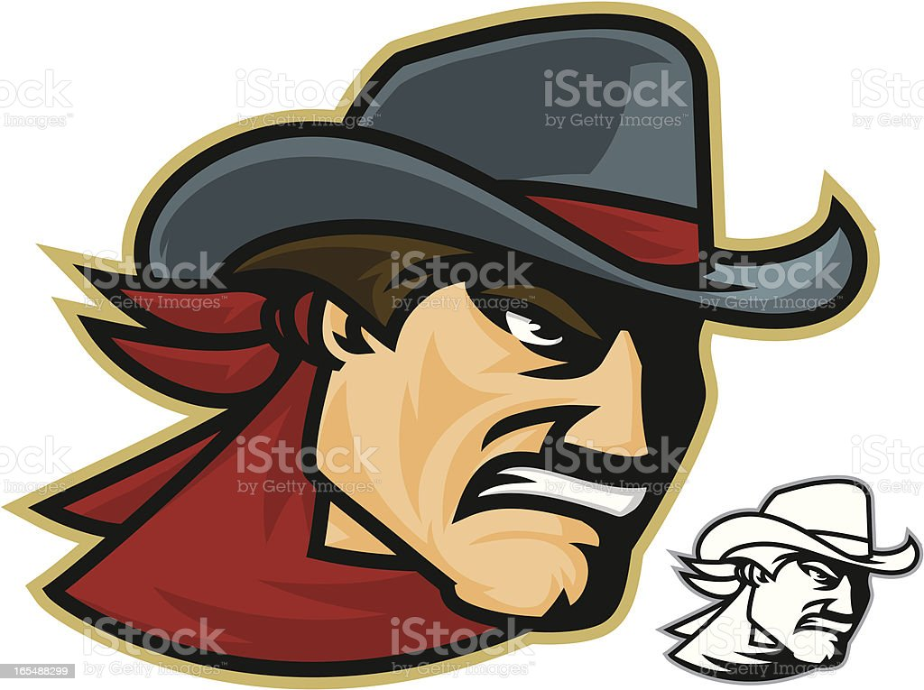 Cowboy Wrangler royalty-free stock vector art