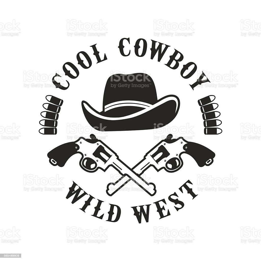 Cowboys emblem on a white background vector art illustration