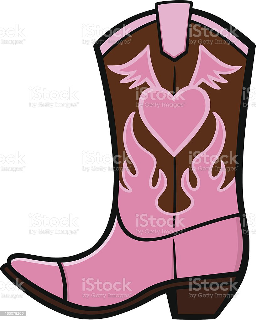Cowgirl Boot royalty-free stock vector art