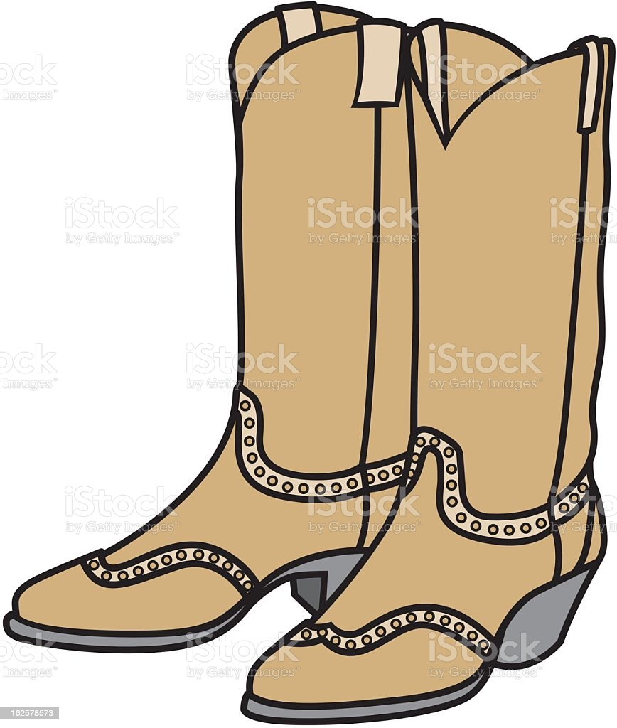 Cowgirl boots royalty-free stock vector art