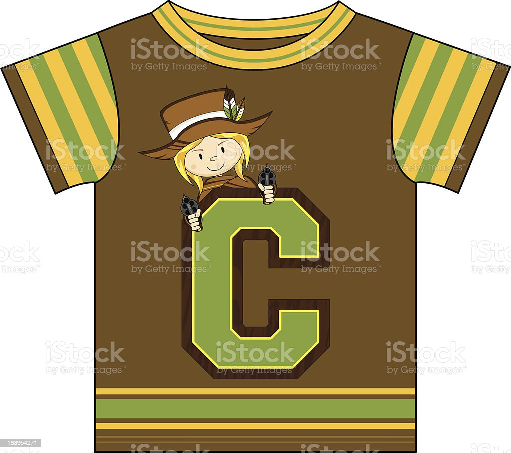 Cowgirl Design T-Shirt royalty-free stock vector art