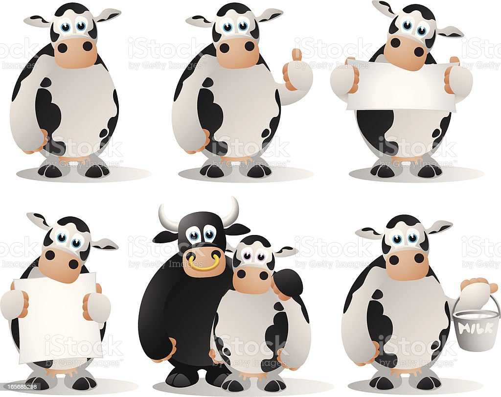 Cows Collection royalty-free stock vector art