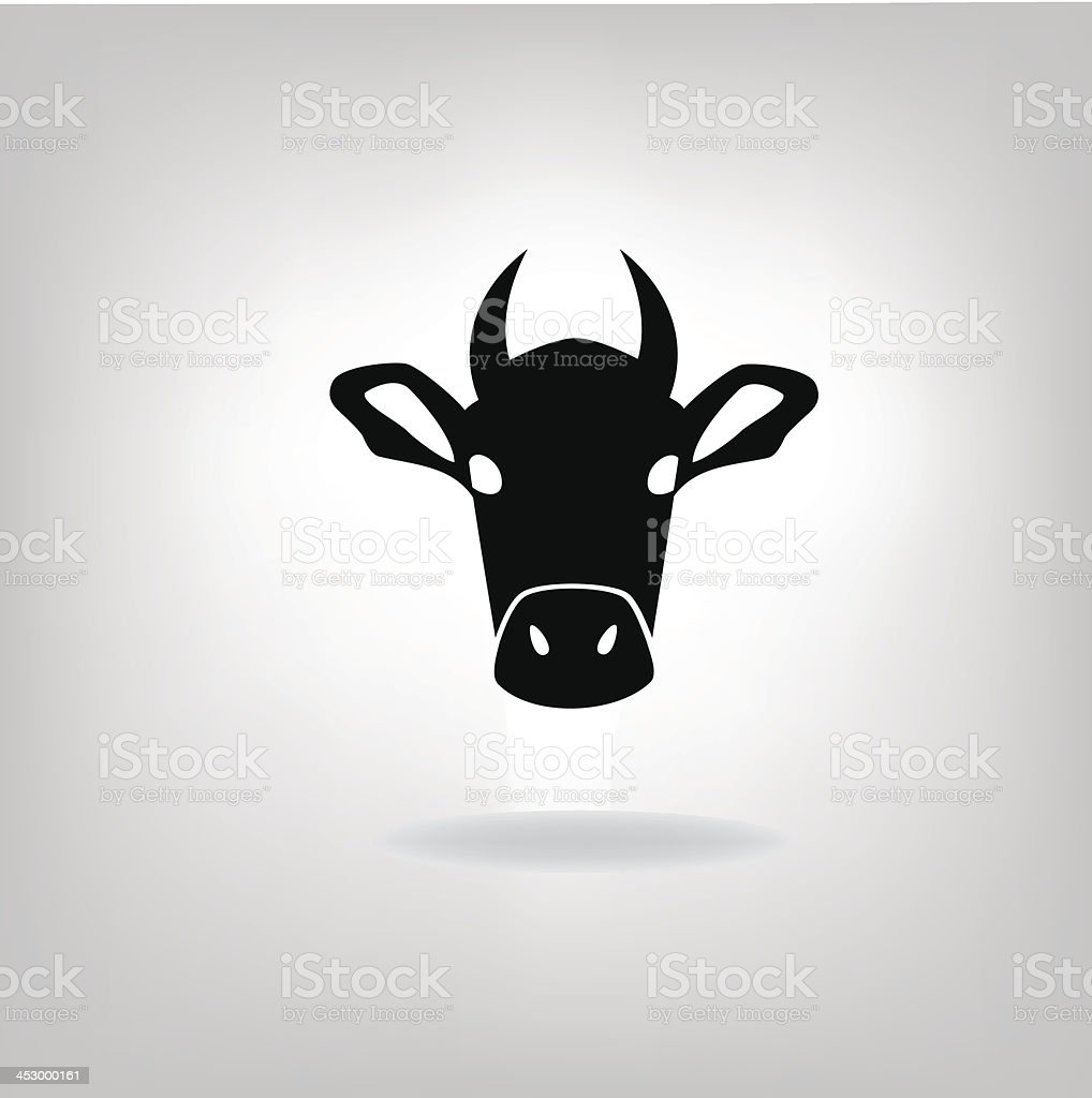 cows head royalty-free stock vector art