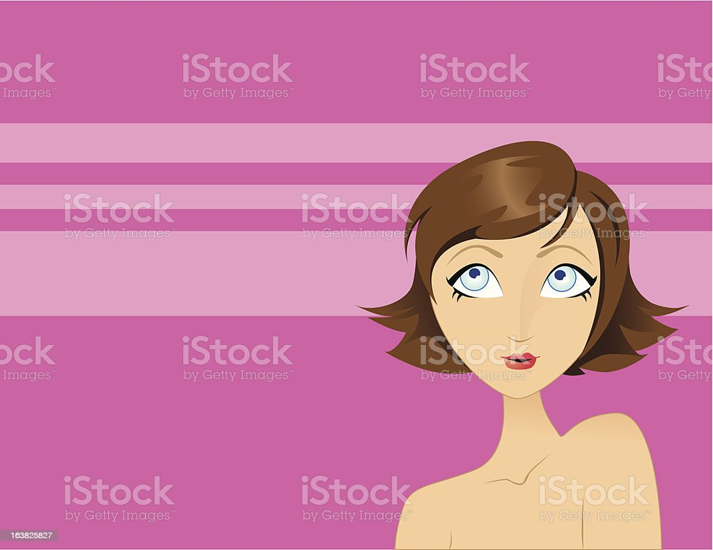 Coy GIrl royalty-free stock vector art