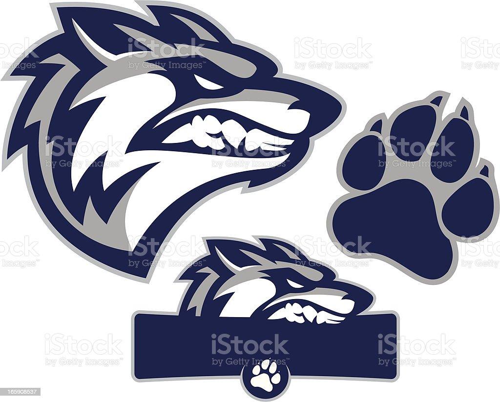 Coyote Mascot Pack royalty-free stock vector art