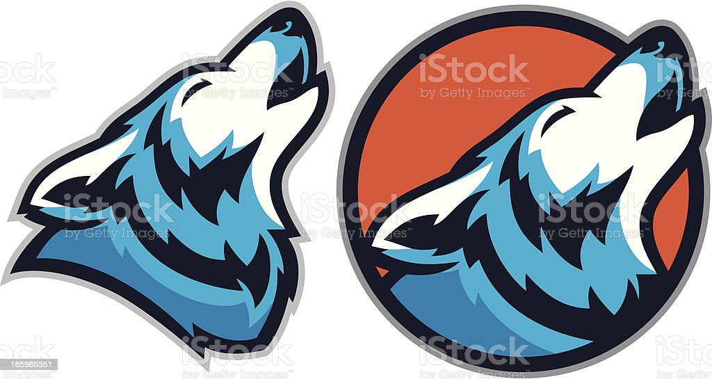 Coyote Wolf Mascot pack royalty-free stock vector art