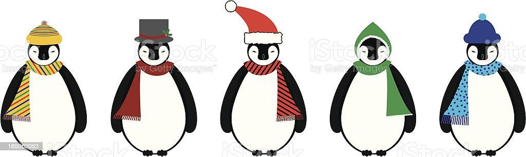 Cozy Penguins royalty-free stock vector art