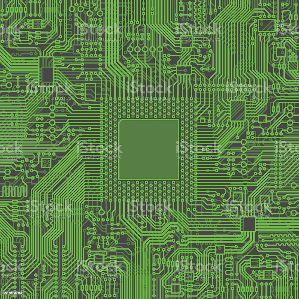 Cpu Microprocessor Microchip Vector illustration vector art illustration