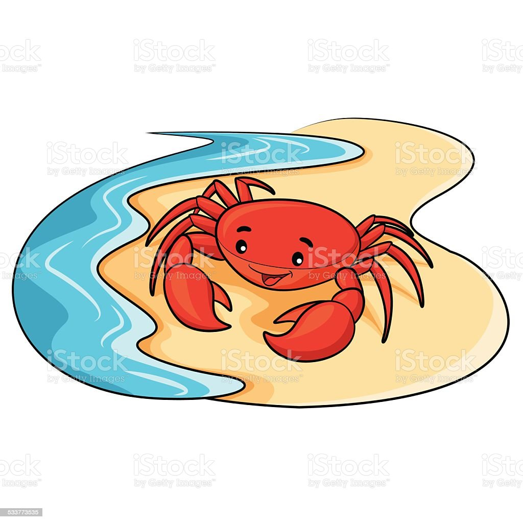 Crab Cartoon vector art illustration