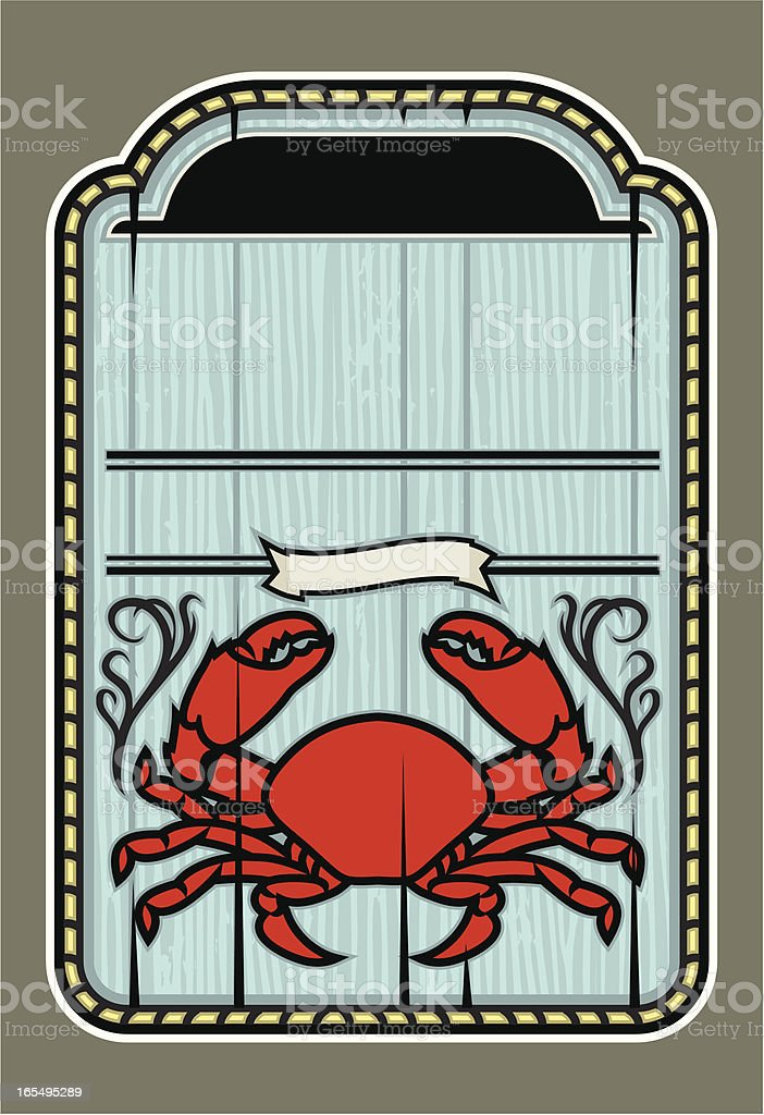 Crab Shack Plaque royalty-free stock vector art