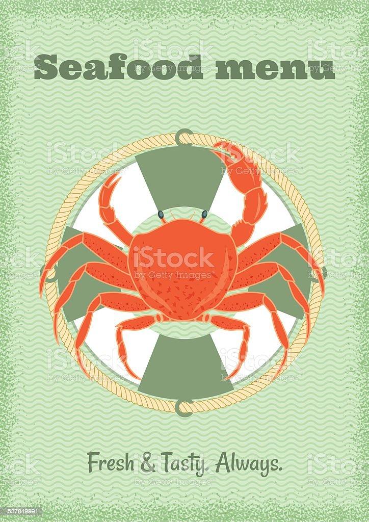 crab vector art illustration