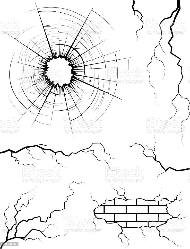 Cracked Elements royalty-free stock vector art