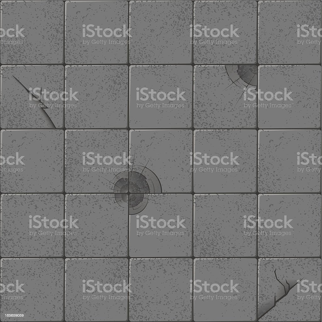 Cracked flagstone royalty-free stock vector art