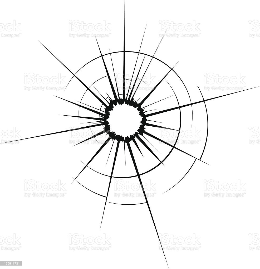 cracked glass vector art illustration