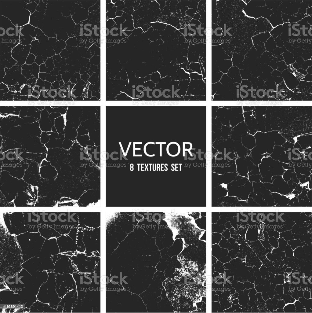 Cracked paint vector texture. Grunge background vector art illustration