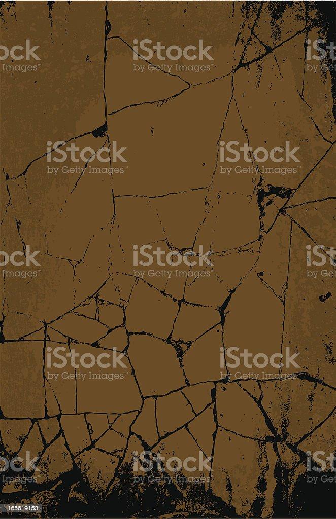 Cracked Stone vector art illustration