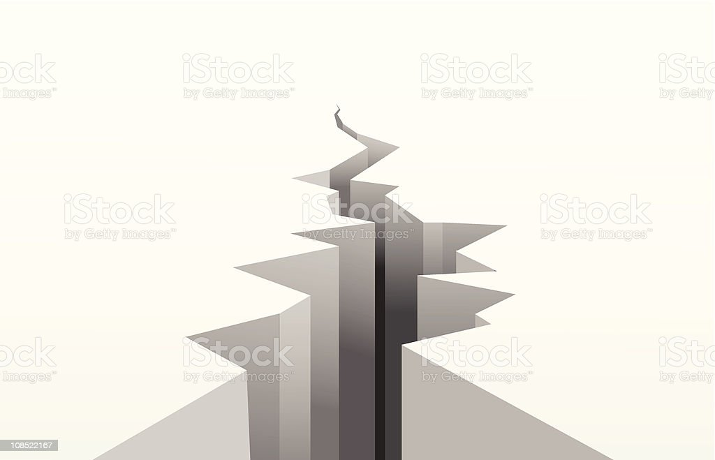 cracked white surface vector art illustration