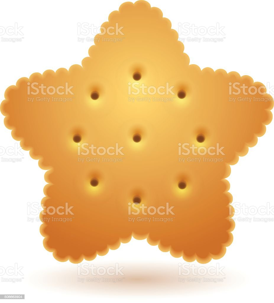 Cracker in star shape royalty-free stock vector art