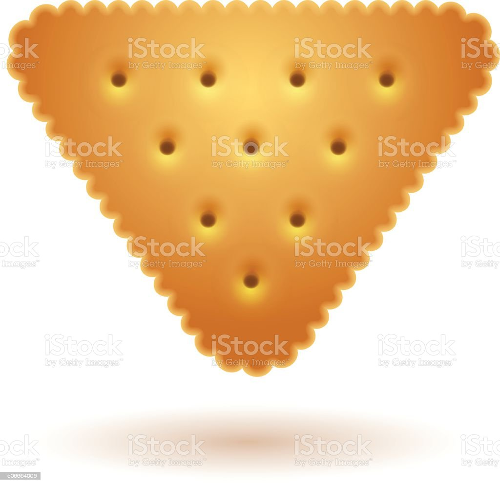 Cracker in triangle shape royalty-free stock vector art