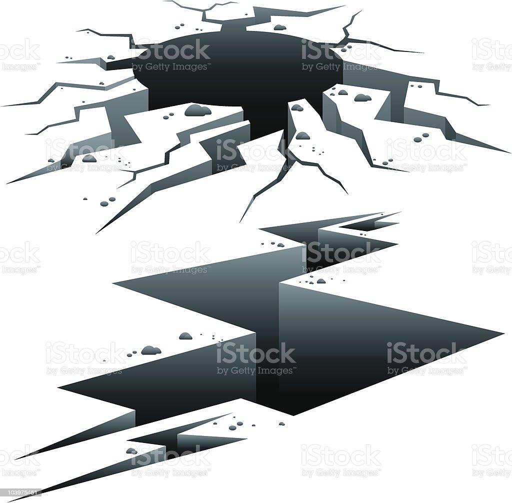 Cracks vector art illustration