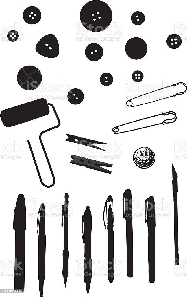 Craft And Stuff vector art illustration