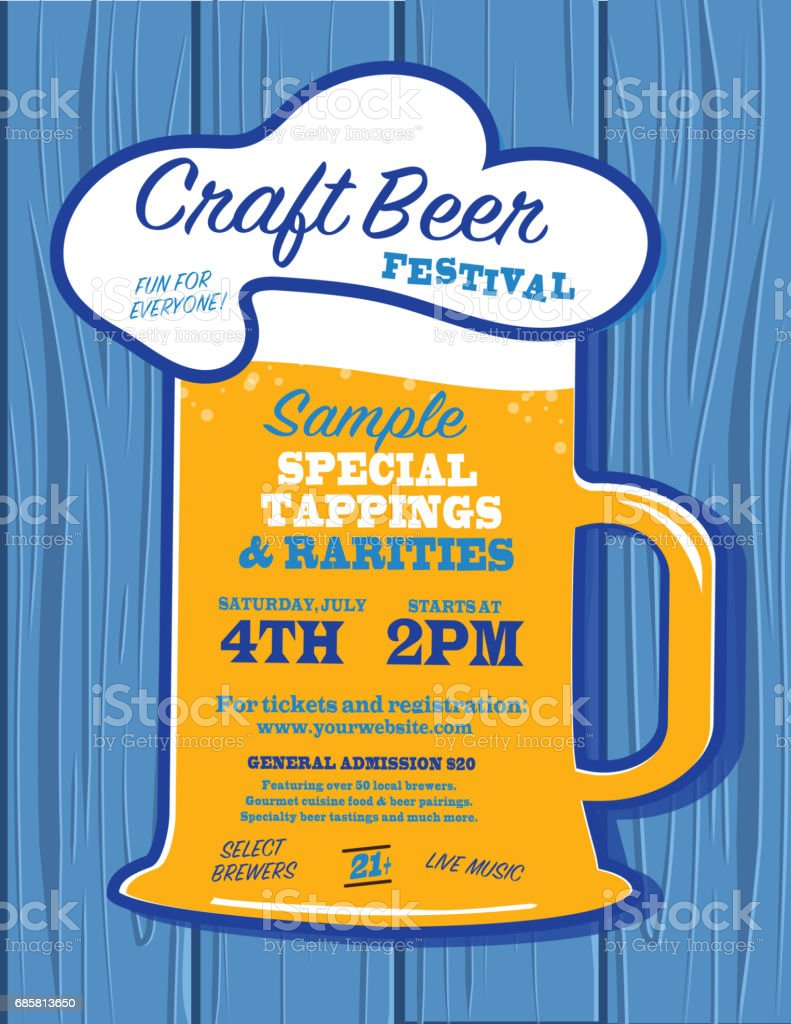 Poster design template free - Craft Beer Festival Poster Design Template Royalty Free Stock Vector Art