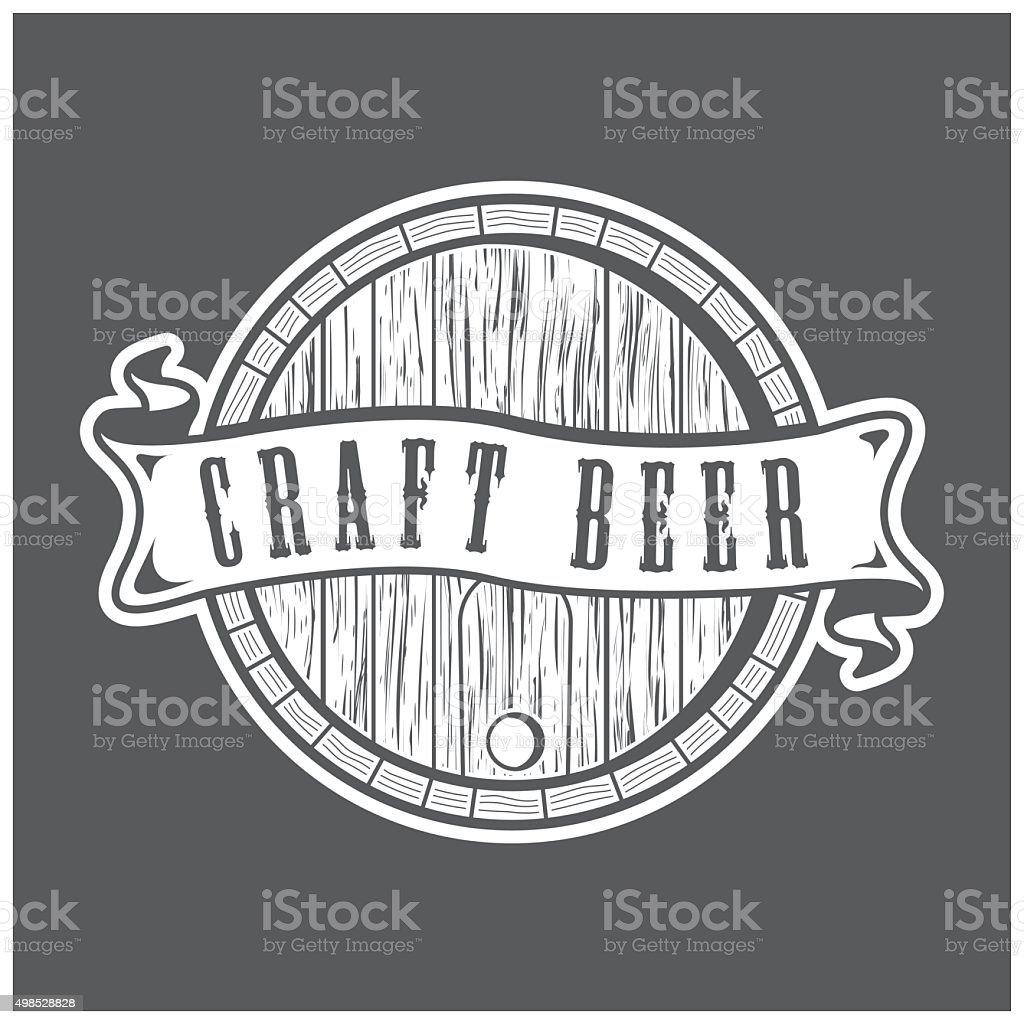 Craft Beer Logo vector art illustration